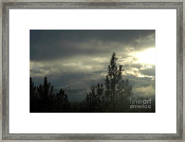 706p Clouds Framed Print