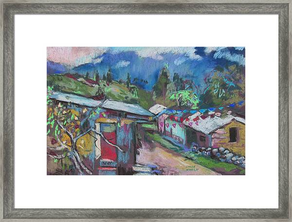 Clouds Of The Andes Framed Print