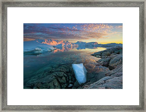 Clouds Over Ilulissat Icefjord Framed Print by Johnathan Ampersand Esper