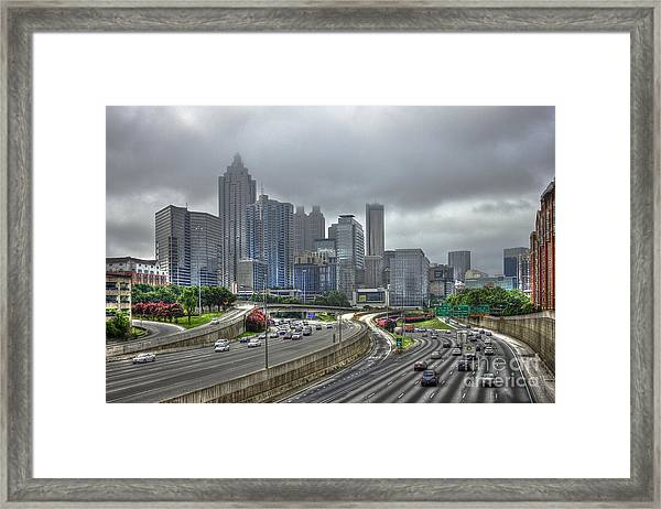 Cloudy Atlanta Capital Of The South Framed Print
