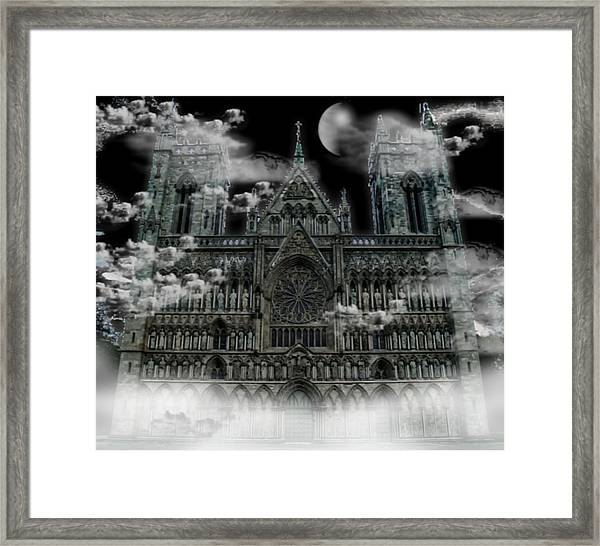 Cloudy Cathedral Framed Print