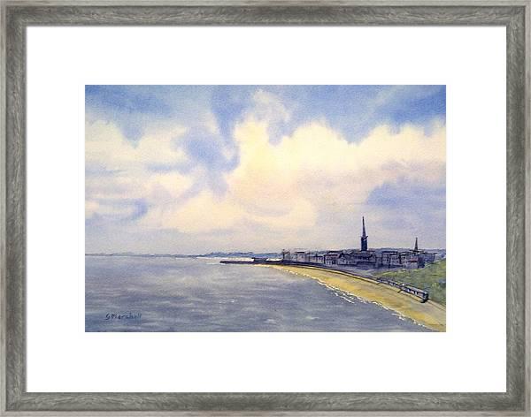 Cloudy Day Over Bridlington Framed Print