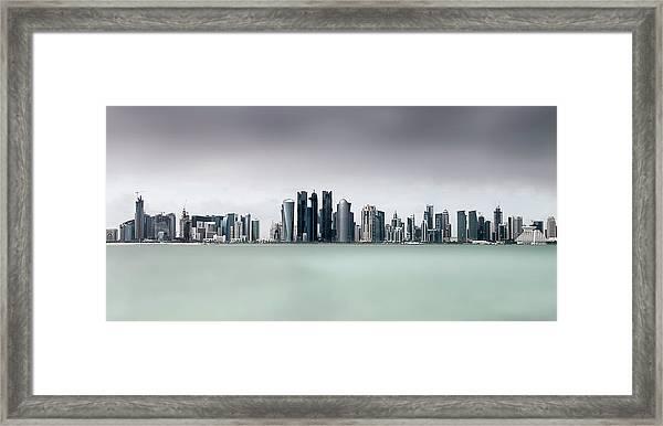 Cloudy Doha .. Framed Print