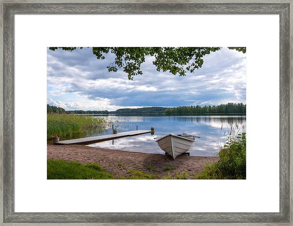 Cloudy Summer Day Framed Print