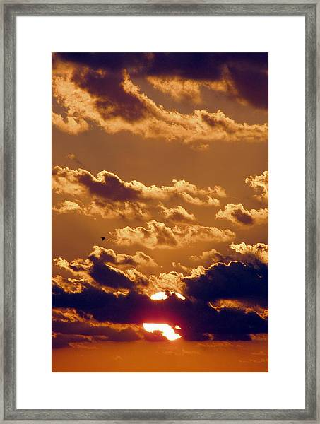 Framed Print featuring the photograph Key West Cloudy Sunset by Bob Slitzan