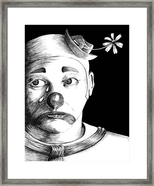 Clown Of Tears Framed Print