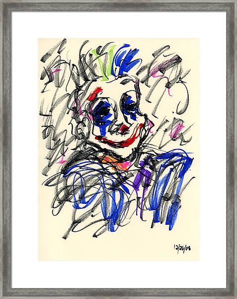 Clown Thug I Framed Print