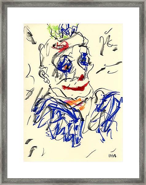 Clown Thug II Framed Print