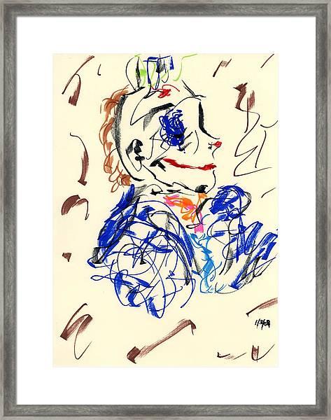 Clown Thug Iv Framed Print