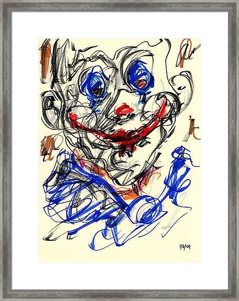 Clown Thug V Framed Print