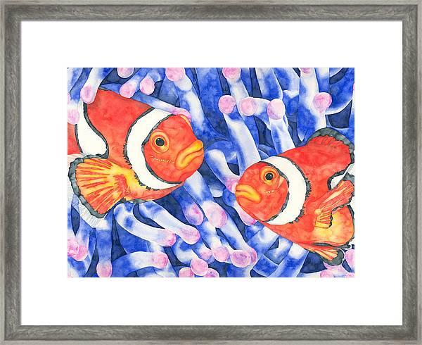 Clownfish Couple Framed Print