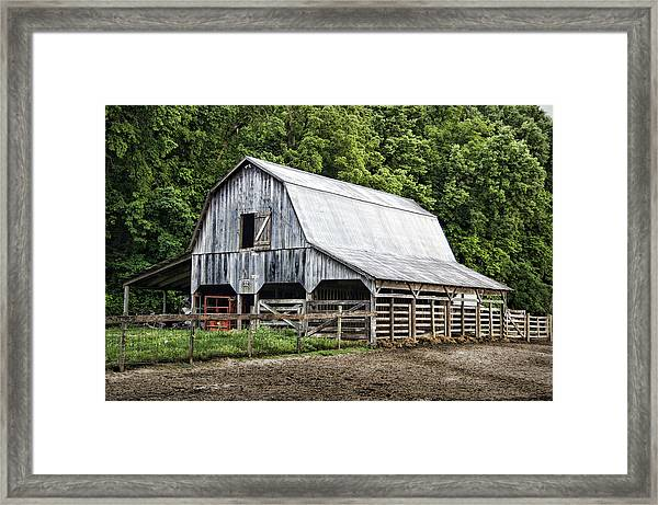Clubhouse Road Barn Framed Print