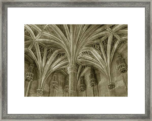 Cluny Museum Ceiling Detail Framed Print