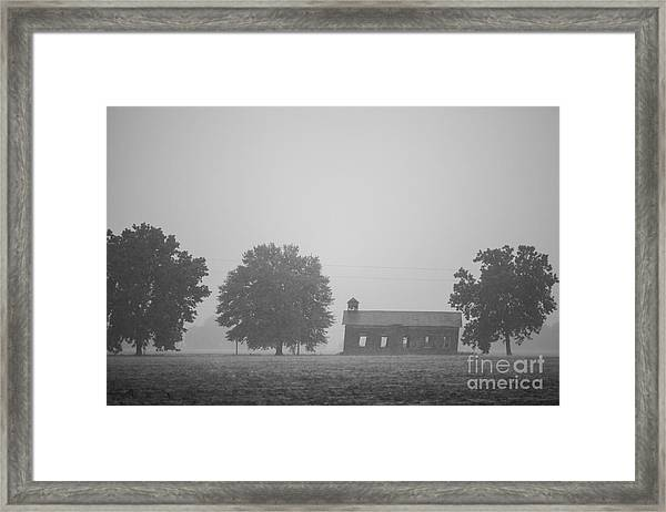 Cme Church At Mont Helena Plantation Framed Print