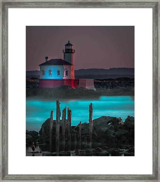 Coaquille Lighthouse Framed Print