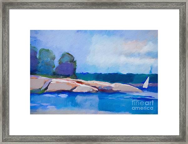 Coast Impression II Framed Print