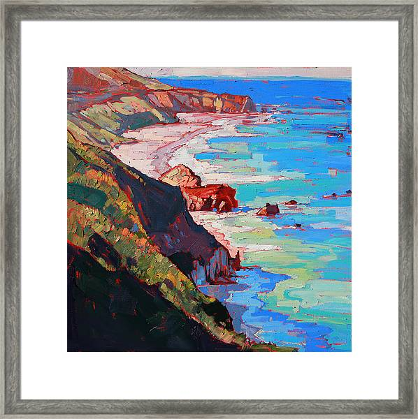 Coast Line Framed Print by Erin Hanson