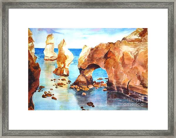 Coast Of Portugal Framed Print
