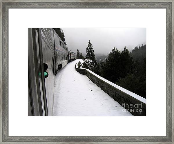 Coast Starlight In The Mountains Framed Print