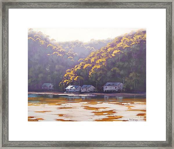Coastal Creek Framed Print