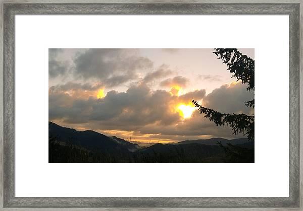 Coastal Mountain Sunrise II Framed Print