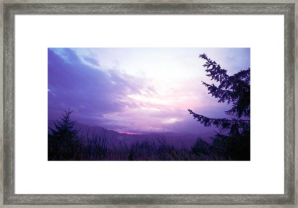 Coastal Mountain Sunrise Iv Framed Print