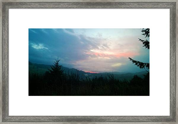 Coastal Mountain Sunrise V Framed Print