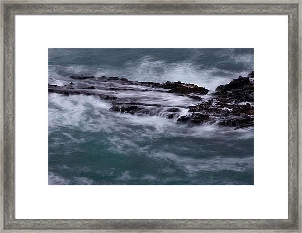 Coastal Rocks Off Rancho Palo Verdes Photography By Denise Dube Framed Print