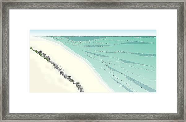 Coastal Wash Framed Print