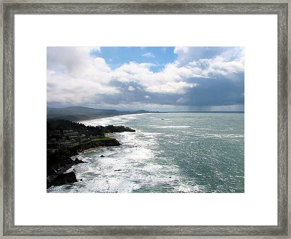 Coastline At Salishan Framed Print