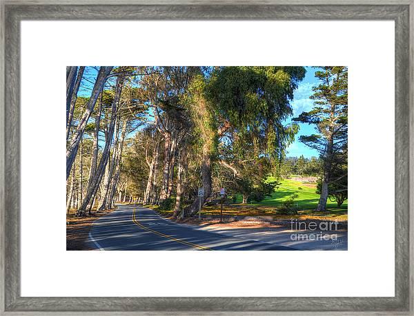 Coastline Highway Framed Print