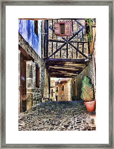 Cobble Streets Of Potes Spain By Diana Sainz Framed Print