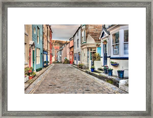 Cobbled Street Framed Print