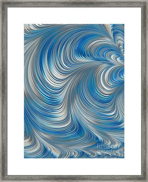 Cobolt Flow Framed Print