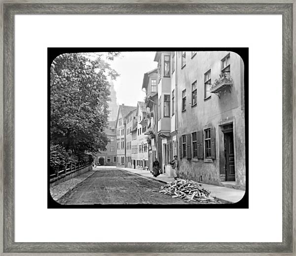 Coburg Germany Street Scene 1903 Framed Print