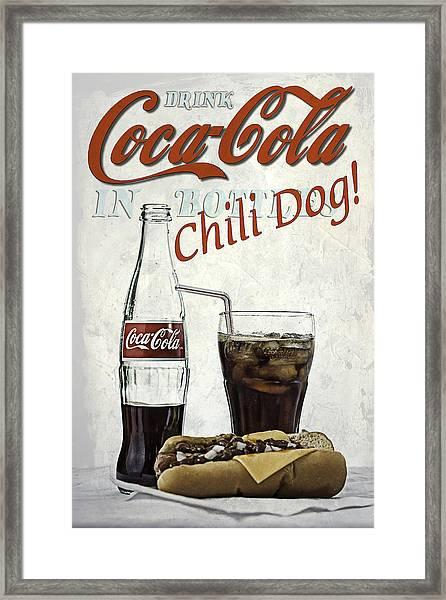 Coca-cola And Chili Dog Framed Print