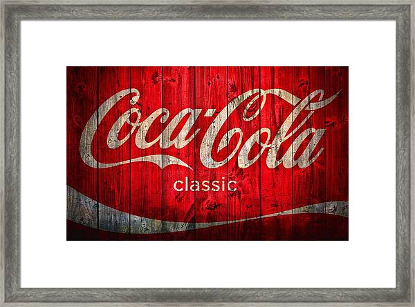 Coca Cola Barn Framed Print