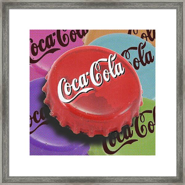 Coca-cola Cap Framed Print