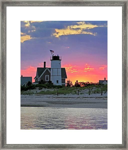 Cocktail Hour At Sandy Neck Lighthouse Framed Print