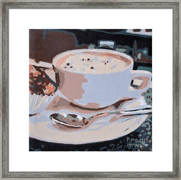 Coffee And Cupcake Framed Print