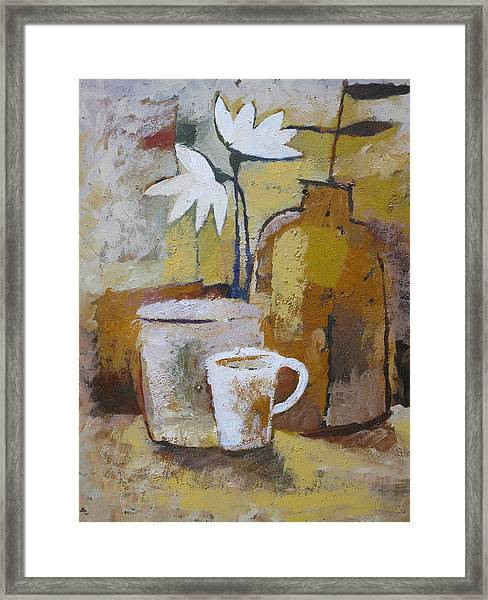 Coffee And Flowers Framed Print