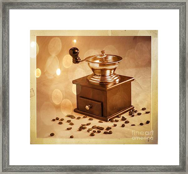 Coffee Grinder 2 Framed Print by Donald Davis