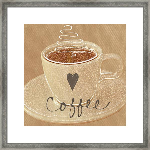 Coffee Love In Mocha Framed Print