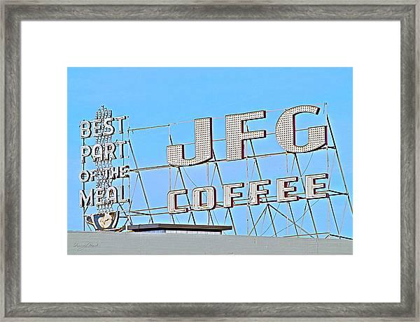 Coffee Sign Framed Print