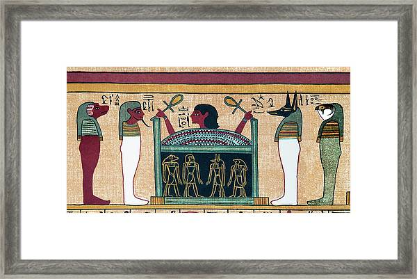 Coffin Of Osiris Framed Print by Sheila Terry/science Photo Library