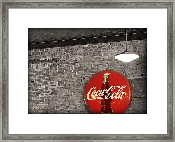 Coke Cola Sign Framed Print