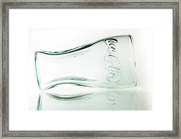 Coke Glass. Framed Print