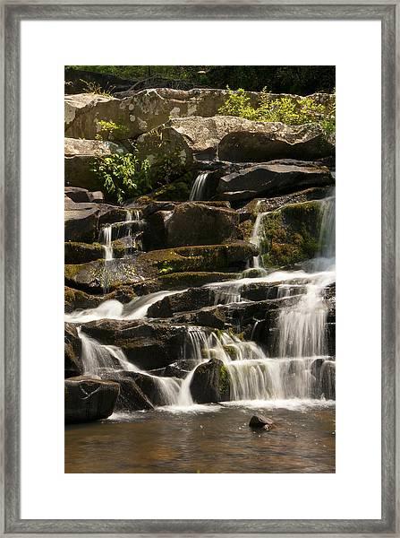 Coker Creek Cascades Framed Print