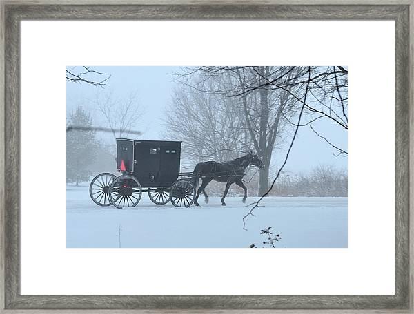 Cold Amish Morning Framed Print
