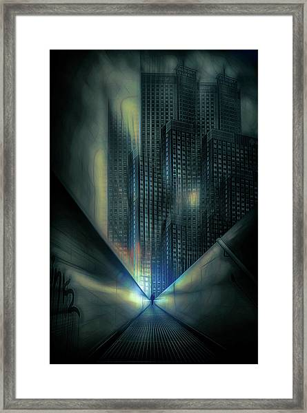 Cold Architecture Framed Print